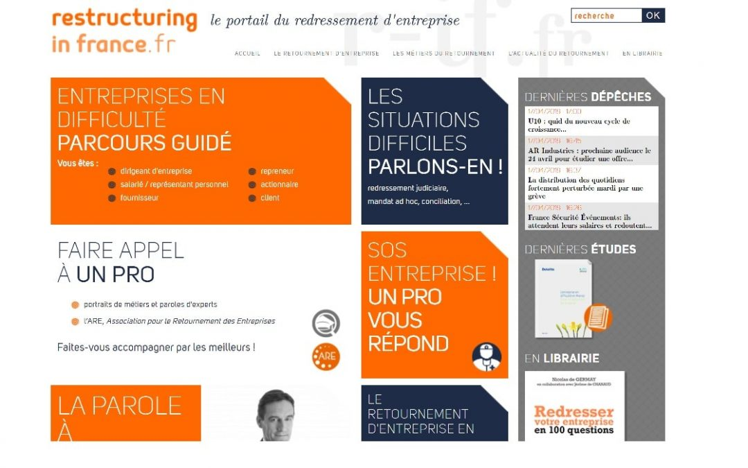 Redressement d'entreprise : Portail Restructuring in France