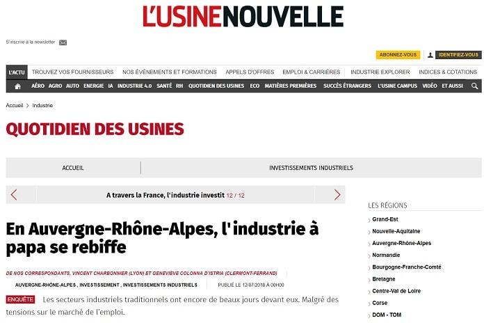 En Auvergne-Rhône-Alpes, l'industrie à papa se rebiffe