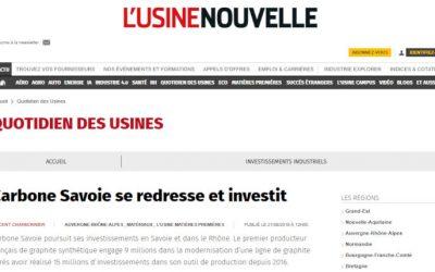 Carbone Savoie se redresseet investit